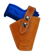 Barsony Gun OWB Saddle Tan Leather Belt Clip Holster Bersa Colt Mini 22 ... - $34.99