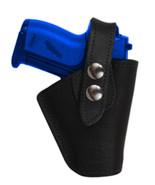 Barsony OWB Black Leather Belt Clip Holster for Jennings, Raven Mini 22 ... - $34.99