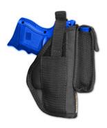 Barsony OWB Gun Holster w/ Magazine Pouch Sig-Sauer Compact, SubComp 9mm... - $24.99