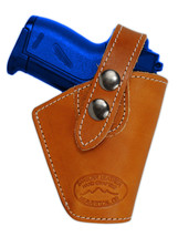 Barsony OWB Saddle Tan Leather Belt Clip Holster Astra AMT CZ Mini 22 25 380 - $34.99