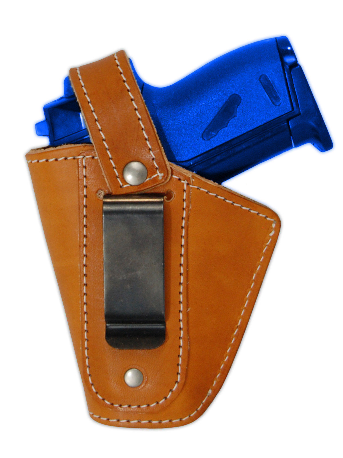 Barsony OWB Tan Leather Belt Holster w/Mag Pouch for Makarov FEG Mini 22 25 380