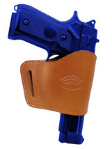 Barsony Tan Leather Yaqui Gun Holster for Smith & Wesson 9mm 40 45 Full Size - $26.99