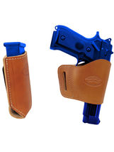 Barsony Tan Leather Yaqui Gun Holster w/Mag Pouch for Springfield Full Size 9mm - $44.99