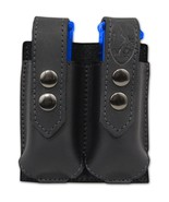 NEW Barsony Black Leather Double Magazine Pouch Smith & Wesson Compact 9... - $38.99