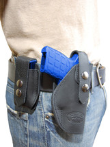 NEW Barsony Black Leather Holster + Mag Pouch Ruger Kimber Small 380 UltraComp - $69.99