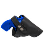 NEW Barsony Black Leather OWB Gun Holster for Ruger 22 38 357 Snub Nose ... - $41.99