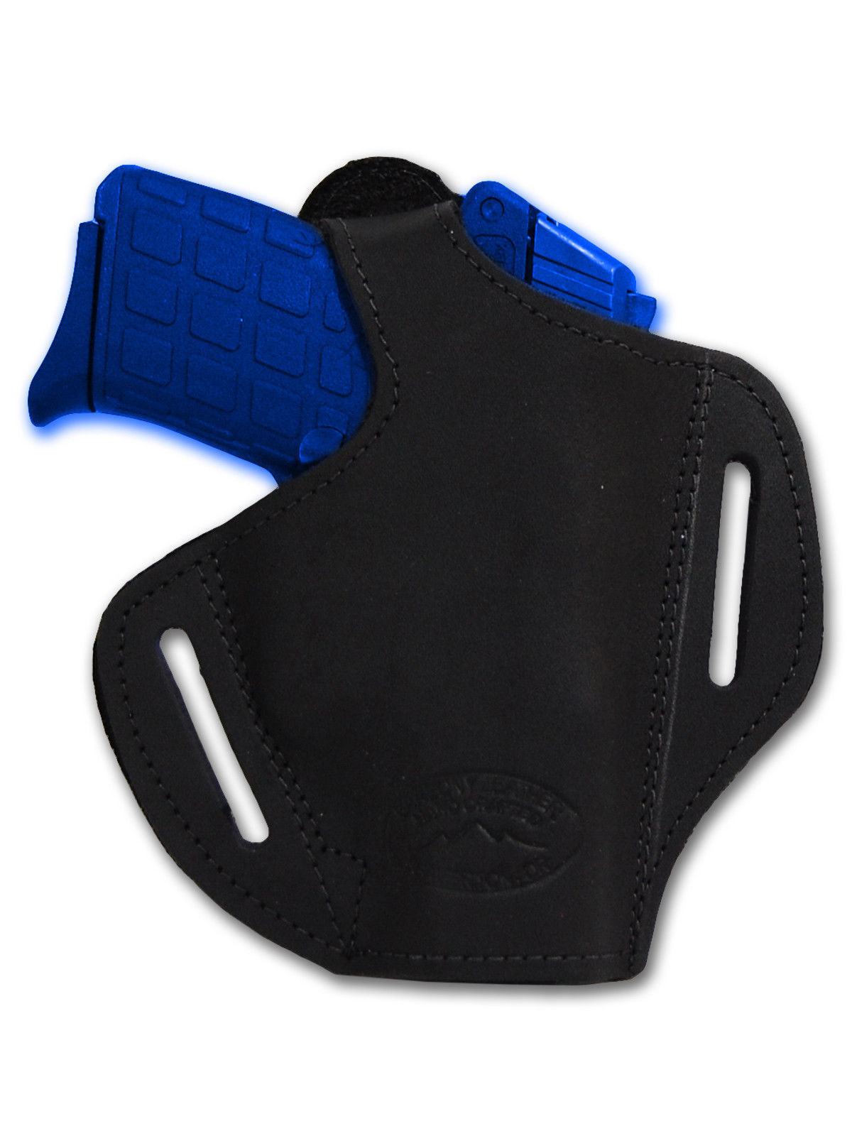 NEW Barsony Black Leather Pancake Holster+Dbl Mag Pouch Sig, Walther Comp 9mm 40
