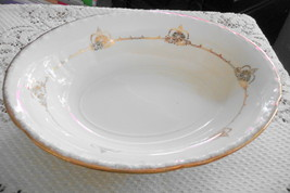 """Edwin M Knowles 9-1/4"""" serving bowl, ivory & go... - $17.99"""