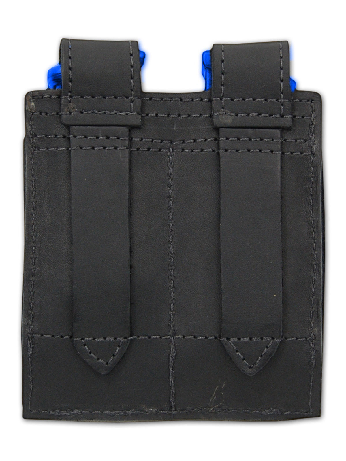 NEW Barsony Black Leather Pancake Holster+Dbl Mag Pouch Star, Bersa Comp 9mm 40