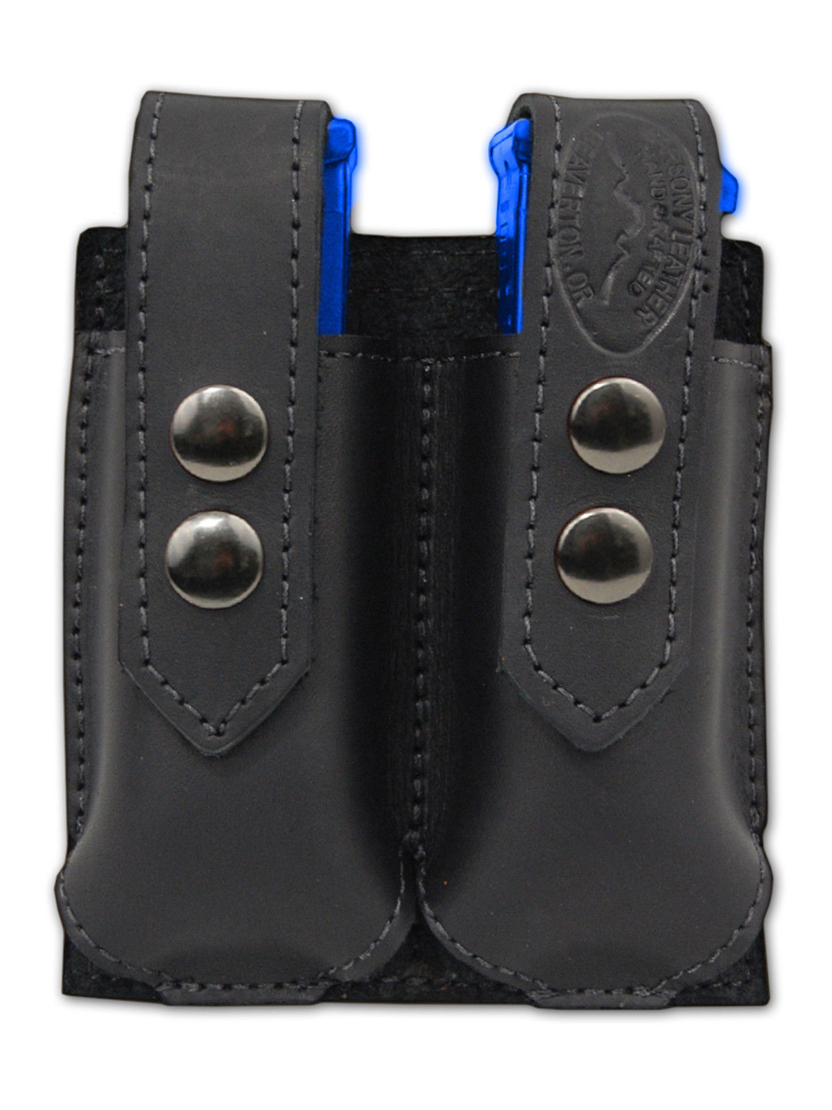 NEW Barsony Black Leather Pancake Holster+Dbl Mag Pouch Paraordnance Comp 9mm 40
