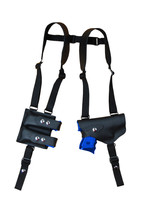 NEW Barsony Black Leather Shoulder Holster Dbl Mag Pouch Taurus Millennium LASER - $104.99
