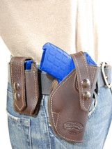NEW Barsony Brown Leather Holster + Mag Pouch Smith&Wesson Small 380 UltraComp - $69.99
