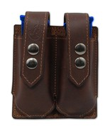 NEW Barsony Brown Leather Double Magazine Pouch Steyr Walther Full Size ... - $38.99