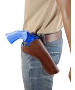 """NEW Barsony Brown Leather Cross Draw Gun Holster for Ruger 6"""" Revolvers - $49.99"""