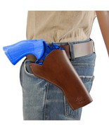"""NEW Barsony Brown Leather Cross Draw Gun Holster for Ruger 4"""" Revolvers - $49.99"""
