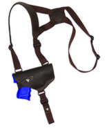 NEW Barsony Brown Leather Horizontal Shoulder Holster S&W M&P Shield w/ ... - $54.99