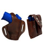 NEW Barsony Brown Leather Pancake Holster+Dbl Mag Pouch Bersa Star Comp ... - $74.99