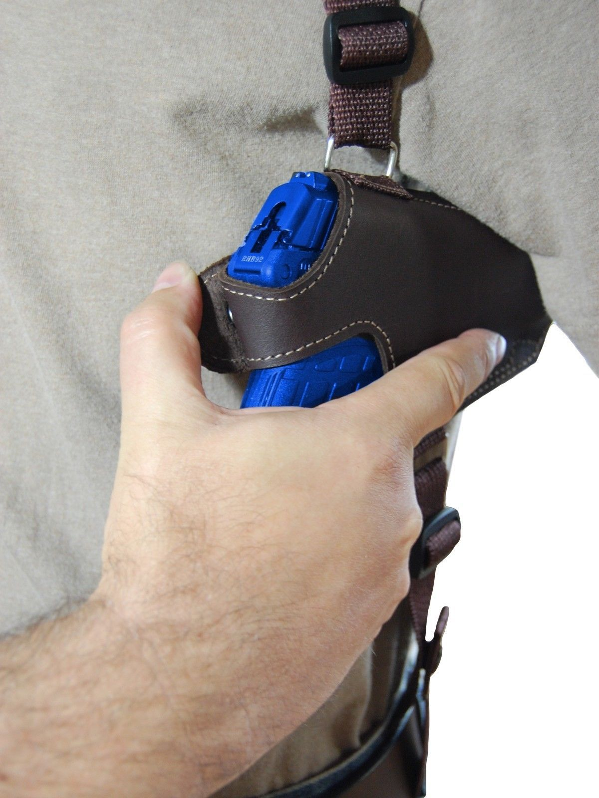 NEW Barsony Tan Leather Thumb Break Shoulder Holster SIG Walther 380 9mm 40 45