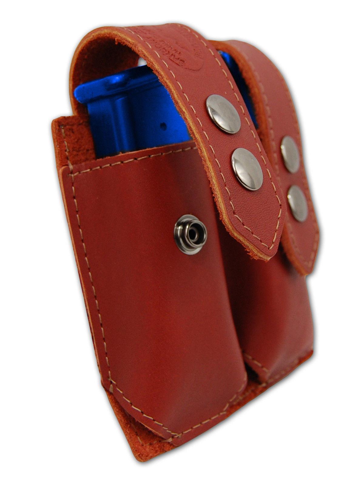 NEW Barsony Burgundy Leather Dbl Mag Pouch Beretta Taurus Mini/Pocket 22 25 380
