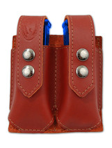 NEW Barsony Burgundy Leather Dbl Mag Pouch Beretta Taurus Mini/Pocket 22... - $39.99