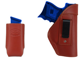 NEW Barsony Burgundy Leather IWB Holster + Mag Pouch S&W, M&P Compact 9mm 40 45 - $46.99