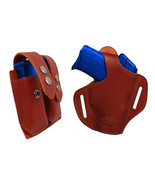 NEW Barsony Burgundy Leather Pancake Holster+Dbl Mag Pouch Sig-Sauer Com... - $74.99