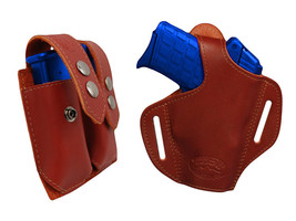NEW Barsony Burgundy Leather Pancake Holster+Dbl Mag Pouch Beretta Comp 9mm40 - $74.99