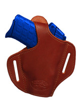 NEW Barsony Burgundy Leather Pancake Holster Beretta Kahr Small 380 Ultra Comp - $39.99