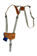 NEW Barsony Saddle Tan Leather Horizontal Shoulder Holster Beretta Nano ... - $54.99