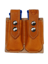 NEW Barsony Tan Leather Double Mag Pouch for Astra AMT CZ Mini/Pocket 22 25 380 - $39.99