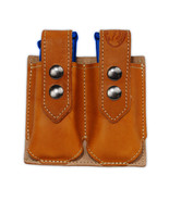 NEW Barsony Tan Leather Double Magazine Pouch for Springfield Compact 9m... - $38.99