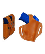 NEW Barsony Tan Leather Pancake Holster+Dbl Mag Pouch Star, Bersa Comp 9... - $74.99