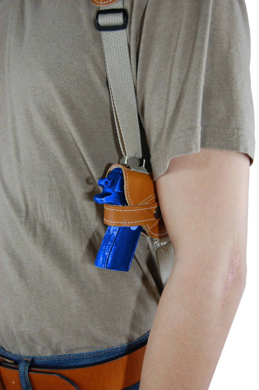 NEW Barsony Tan Leather Shoulder Holster for Sig, Walther Small 380 Ultra-Comp