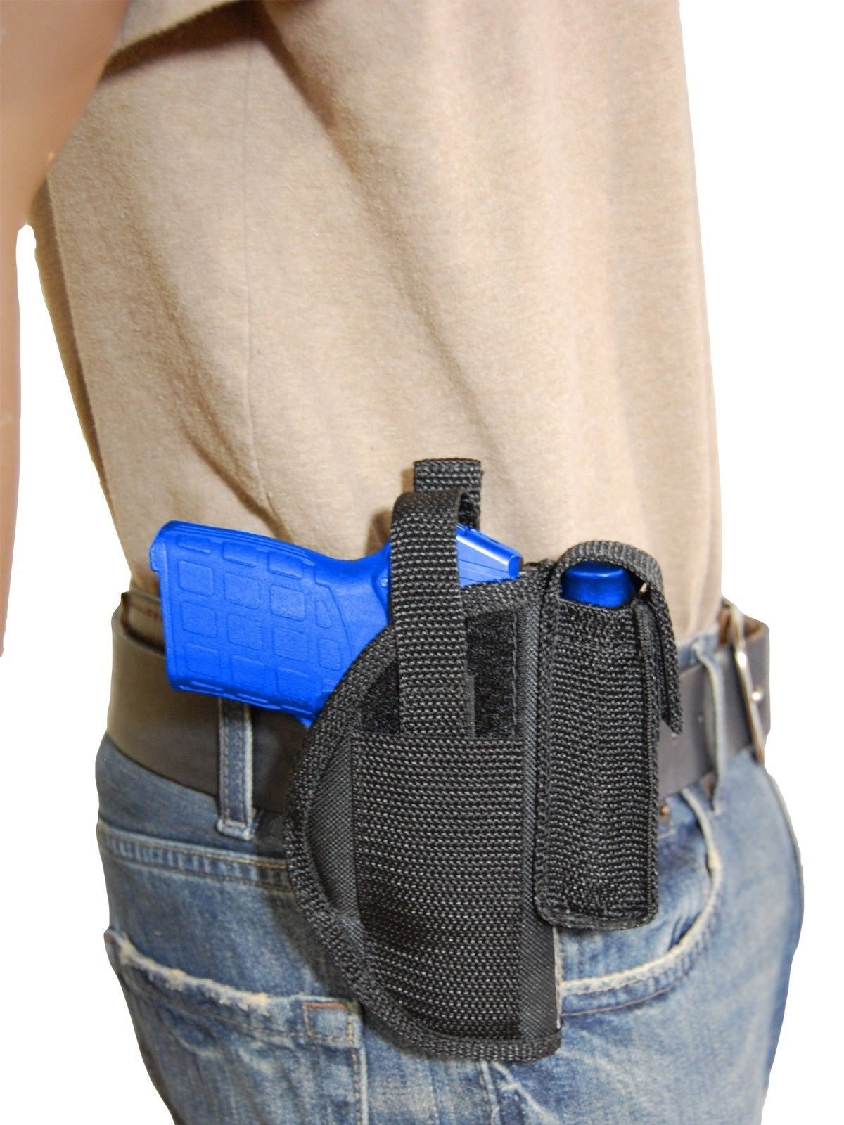 New Barsony Belt Loop Holster w/ Mag Pouch Paraordnance 380 Ultra-Compact 9mm 40