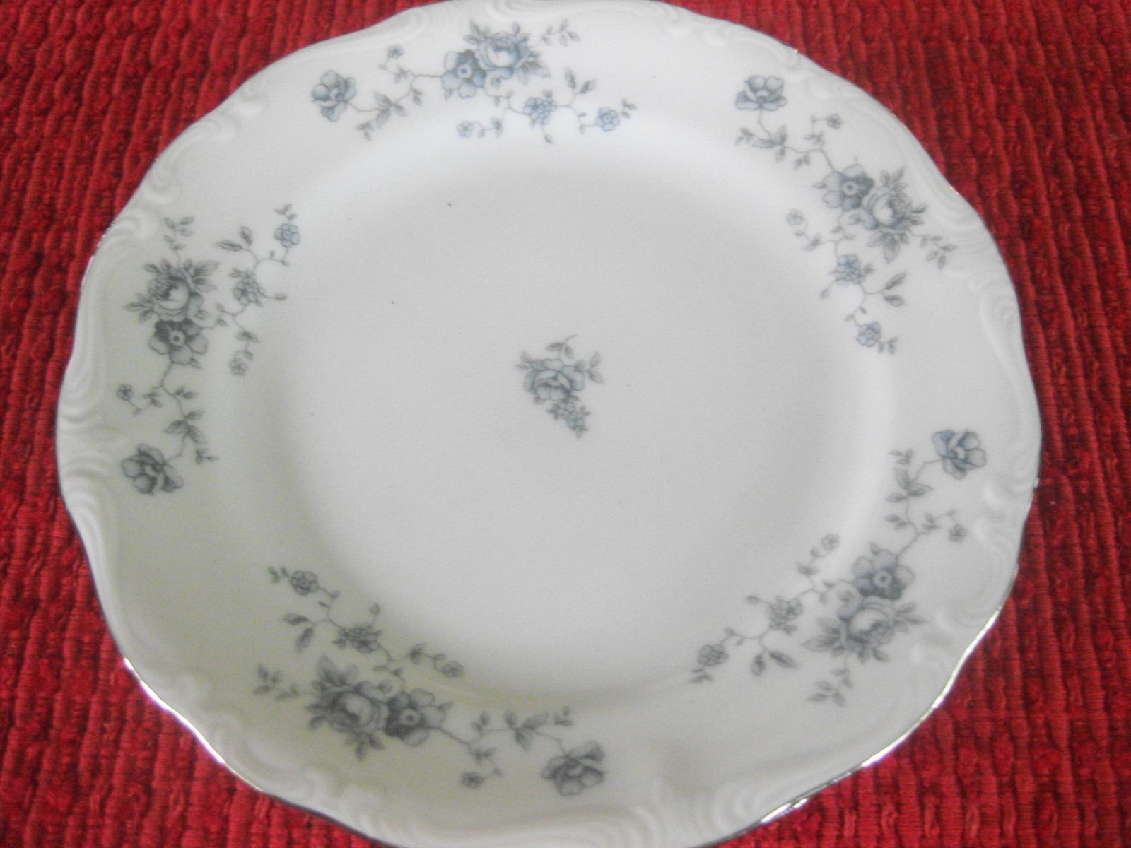 Johann Haviland Blue garland bread plate(s) Bavaria, Germany, Vintage and Nice - $2.47