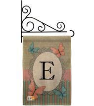 Butterflies E Initial Burlap - Impressions Decorative Metal Fansy Wall Bracket G - $33.97