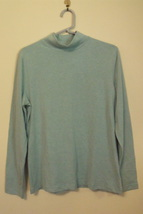 Womens Croft and Barrow NWT Turquoise Mockneck Long Sleeve Top Size Medium - $18.95