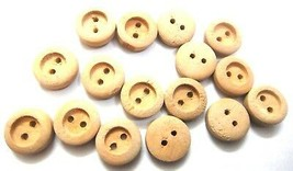 "THE UNDER DOG 2 Holes Button Wood Sewing Scrapbook DIY 13 mm (1/2"") Size 20 - $2.23+"