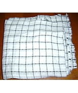 White and Black Plaid Fabric Craft Lightweight - $5.95