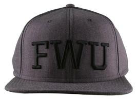 Crooks & Castles F. W. U Fu K Avec US Heather Charbon Baseball Snapback Hat Nwt