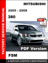 Mitsubishi 380 2005   2008 Factory Oem Service Repair Workshop Shop Fsm Manual - $14.95