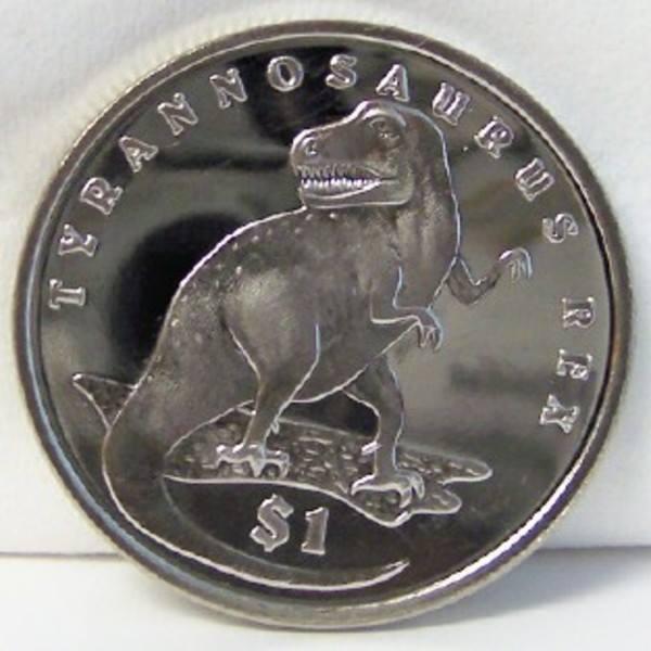 SIERRA LEONE SLE TYRANNOSAURUS REX T-REX DINOSAUR 2006 CUNI Coin Uncirculated