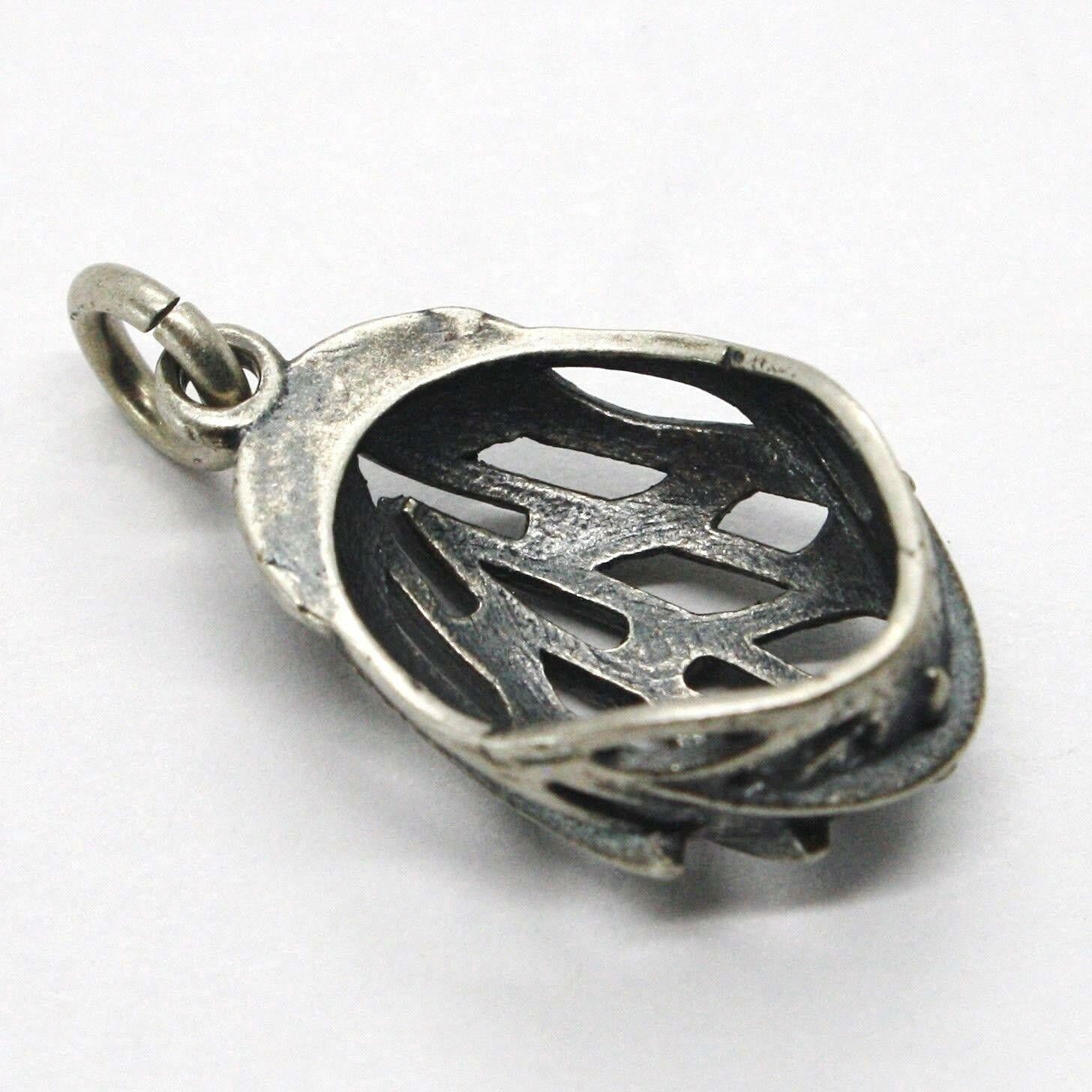 Silver Pendant 925, Burnished and Satin, Bob Cycling Jersey, Helmet image 4