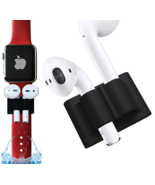 Airpods Holder Anti Slip Apple Airpods Silicone Watch Band Sleeve Rubber... - $6.99