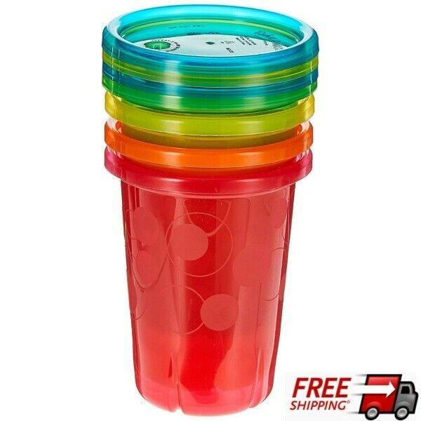 Spill Proof Straw Cups 10 Ounce Set Of 4 Durable & Disposable Cups For Ages 18m+ - $7.91