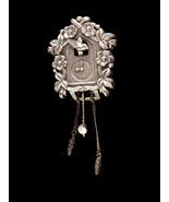 Coro Pegasus Cuckoo Clock fur clip - Vintage Mechanical jewelry - Bird F... - $85.00