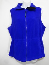 L.L. Bean Royal Blue Fleece Vest Womens Small R... - $37.73