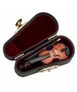 Mini Violin Case Instrument Music Miniature Replica Gift Play Decoration... - $22.54
