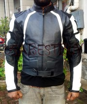 Custom Handmade Motorcycle Leather Jacket in Latest Superb Stlye with Sa... - $139.99