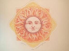 """Alice Morris Scott Sunface Etching Retails 11 x11 """" $120 Mint #38/350 Si... - $49.49"""
